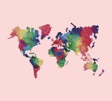 World Map Kids Clothes