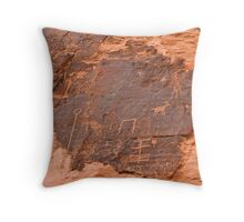 Ancient Petroglyphs - Valley of Fire Throw Pillow
