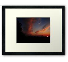 Paint the Night Sky Framed Print