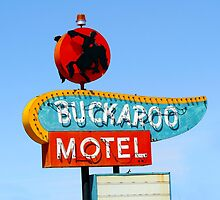 Buckaroo Motel Sign, Tucumcari, New Mexico  by Catherine Sherman