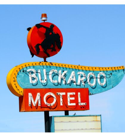 Buckaroo Motel Sign, Tucumcari, New Mexico  Sticker