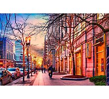 Boston at Christmas  Photographic Print