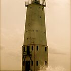 Sepia Lighthouse by Bromoson Photography