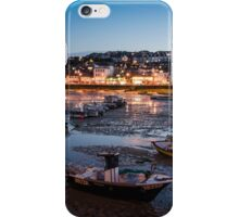 St Ives Harbour at Night, Cornwall, England iPhone Case/Skin