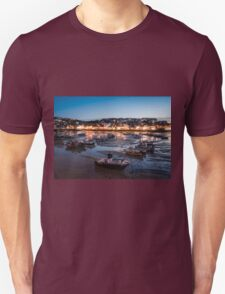 St Ives Harbour at Night, Cornwall, England T-Shirt