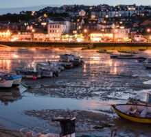 St Ives Harbour at Night, Cornwall, England Sticker