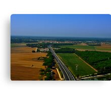 Italian highway Canvas Print