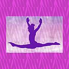 """The Gymnast ~ Pink and Purple Animal Stripe Version """"A"""" by Susan Werby"""