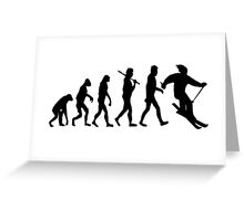 Skiing Evolution Greeting Card