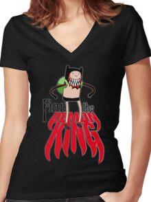 Finn the Demon King Women's Fitted V-Neck T-Shirt