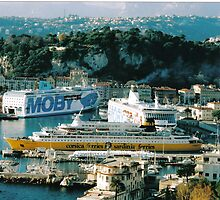Nice harbour - large guests. Southern France by Igor Pozdnyakov