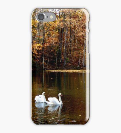 Swans In Autumn iPhone Case/Skin