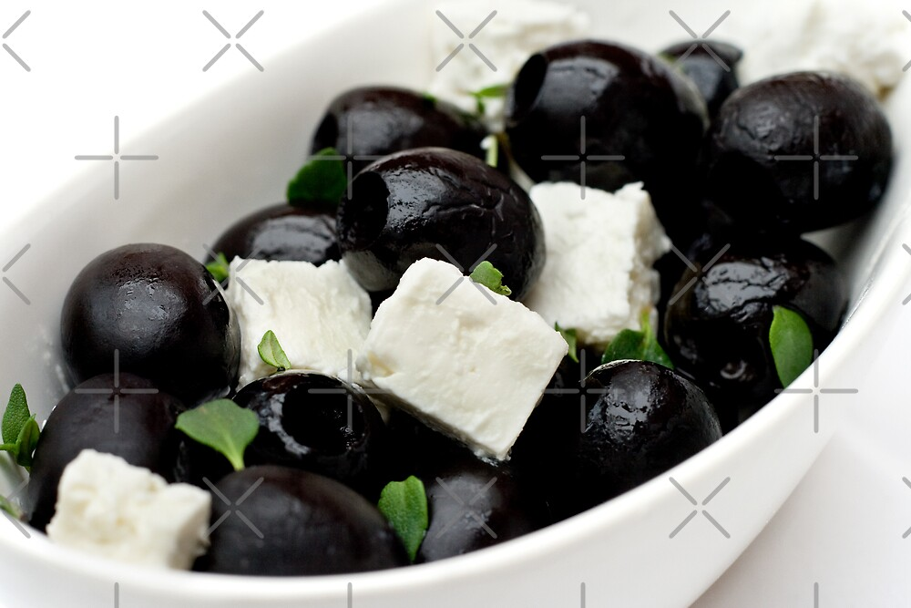 Black Olives & Feta Cheese by Wendy Kennedy