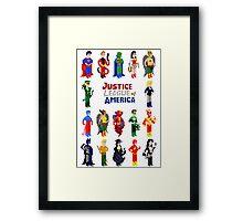 8 bit Justice Framed Print