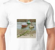Fishing Boats in Mousehole Harbour, Cornwall Unisex T-Shirt