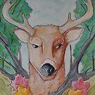 Deer Watercolor by LovelessDGrim