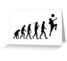 Soccer Header Evolution Greeting Card