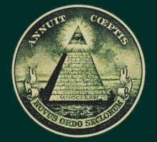 All seeing eye, pyramid, dollar, freemason, god T-Shirt