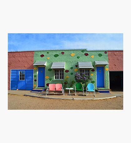 Blue Swallow Motel, Route 66, Tucumcari, New Mexico Photographic Print
