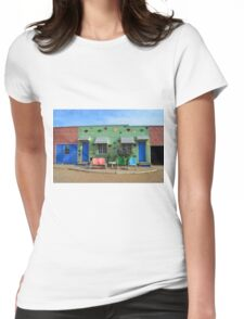 Blue Swallow Motel, Route 66, Tucumcari, New Mexico Womens Fitted T-Shirt