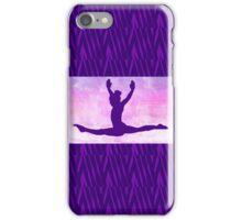 "The Gymnast ~ Pink and Purple Animal Stripe Version ""C"" iPhone Case/Skin"