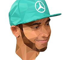 Lewis Hamilton, Low Poly  by nicky sidebottom