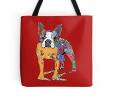 Boston Terrier Graffiti Tote Bag