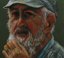 Old Man in Cap by thecolourist