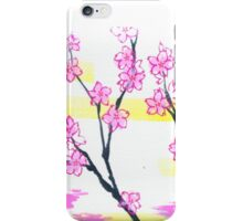 March Hanafuda - Cherry Blossoms iPhone Case/Skin