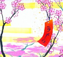 March Hanafuda - Cherry Blossoms by scookart