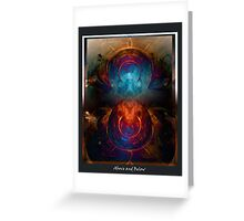 Above and Below Greeting Card