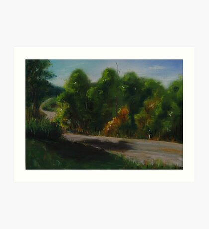 Tree Lined Country Road Art Print