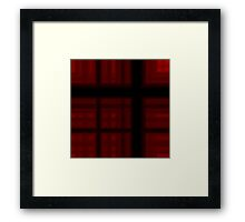 Deep Cherry-Red Plaid Framed Print
