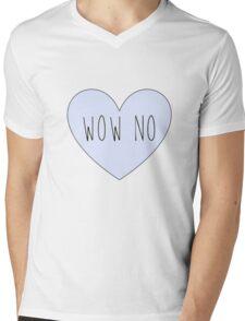 WOW NO Mens V-Neck T-Shirt