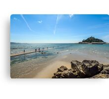 Walking out to St Michael's Mount, Cornwall Canvas Print