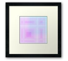 Rose-Violet Plaid Framed Print