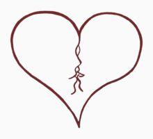 Heart Tee by Edzie