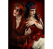 Alice and the Queen of Hearts Photographic Print