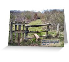 STILE/TEXT TEACH ME YOUR WAY Greeting Card