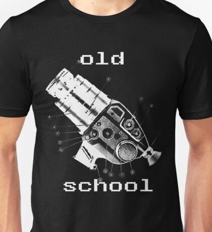 old school white Unisex T-Shirt