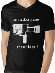 analogue rocks Mens V-Neck T-Shirt