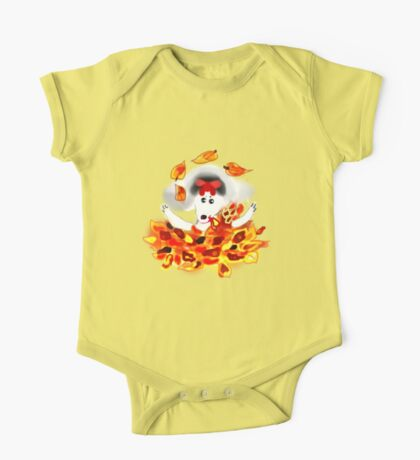 DOLORES LOVES AUTUMN/TEE SHIRT BABY GROW/KIDS TEE One Piece - Short Sleeve
