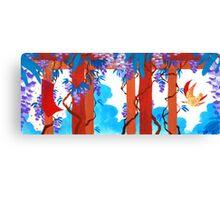 April Hanafuda - Wisteria Canvas Print
