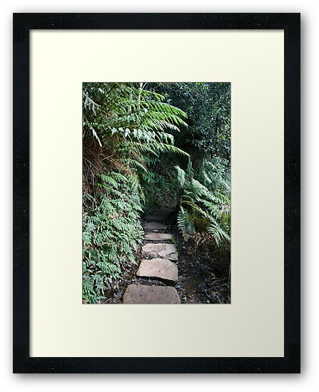 Covered Stone Walkway by Bryan Freeman
