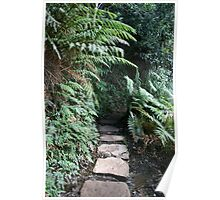 Covered Stone Walkway Poster