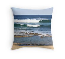 Diving Under The Swell Throw Pillow