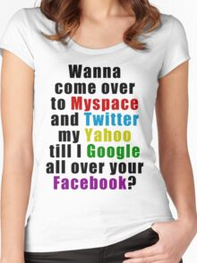 Popular Saying Women's Fitted Scoop T-Shirt