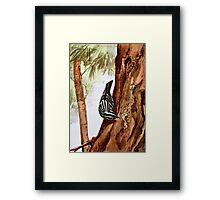 Black and White Warbler Vintage Art Framed Print