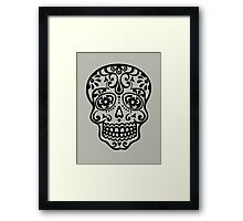 Mexican Sugar Skull, Day of the Dead, Dias de los muertos Framed Print
