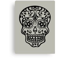 Mexican Sugar Skull, Day of the Dead, Dias de los muertos Canvas Print